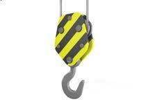 3d construction crane hook Stock Photo