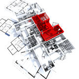 3d construction object and house models Stock Photos