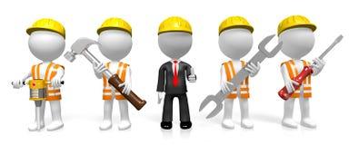 3D construction/odświeżania firmy pojęcie ilustracja wektor