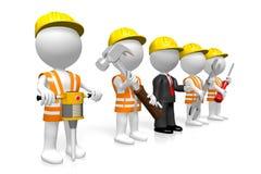 3D construction/odświeżania firmy pojęcie ilustracji