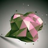 3D construction polygonale abstraite, digi coloré de réseau de vecteur Images libres de droits