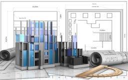 3d of construction progress Stock Image