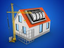 3d construction site Royalty Free Stock Images