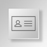 3D contact list icon Business Concept Stock Photo