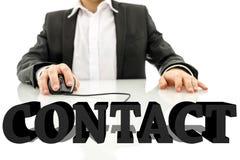 3d contact sign Royalty Free Stock Photos