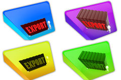 3d container export icon Royalty Free Stock Photography