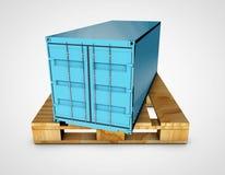 3d conteiner na srebnym tle Obraz Stock