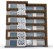 3d contemporary apartment block Royalty Free Stock Photography