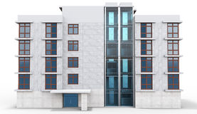 3d contemporary apartment block Stock Photography
