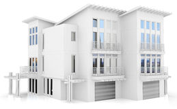 3d contemporary apartment block Royalty Free Stock Images