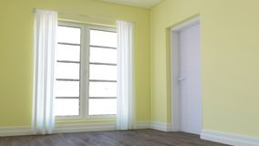 3D Contemporary Empty Room. Render of 3D Contemporary Empty Room stock illustration