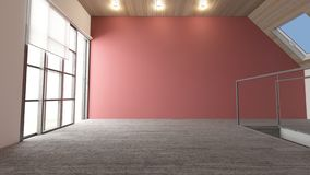 3D Contemporary Empty Room royalty free stock images