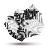 3D contemporary style abstract stripy object, cybernetic futuris. Tic form. Technology idea Stock Photo