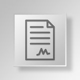 3D contract document icon Business Concept. 3D Symbol Gray Square contract document icon Business Concept Royalty Free Stock Image