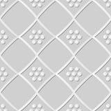 3D Controle Diamond Cross Frame Dot Flower van de Witboekkunst vector illustratie