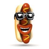 3d Cool hot dog śmiechy serdecznie ilustracji