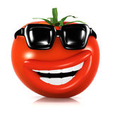 3d Cool tomato Royalty Free Stock Photo