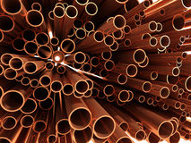 3d Copper pipe ends Royalty Free Stock Images