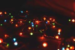D?cor d'ampoule Guirlande avec image stock