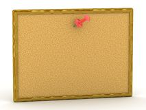 3D cork board with pin Royalty Free Stock Photos