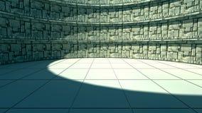 3d corridor. 3d design. Futuristic corridor and global illumination Royalty Free Stock Photography