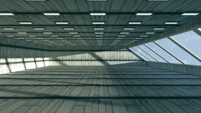 3d corridor. 3d design. Futuristic corridor and global illumination Stock Photo