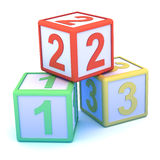 3d Counting blocks Stock Photography