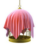 3d Covered bird cage Stock Photography