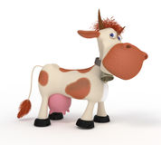 3d cow on a pasture. Stock Photography