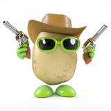 3d Cowboy potato Stock Image