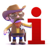 3d Cowboy sheriff has information Stock Image