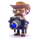 3d Cowboy sheriff takes a picture Royalty Free Stock Photography