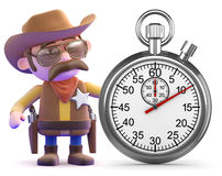 3d Cowboy sheriff times the event Royalty Free Stock Photography