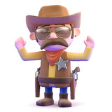 3d Cowboy surrenders Royalty Free Stock Image
