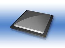 3D CPU computer processor chip vector illustration