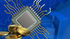 3d of cpu Royalty Free Stock Image