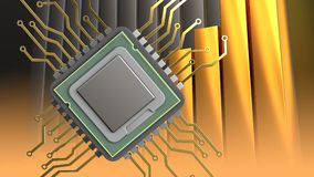 3d of cpu Stock Photo