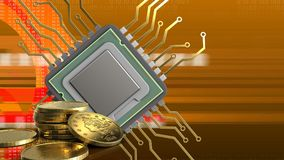 3d of cpu Royalty Free Stock Photo