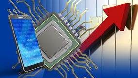3d of cpu Stock Photography