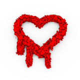 3d cracked heartbleed openSSl security symbol. 3d illustration of cracked openssl heartbleed sucrity breach icon sign Royalty Free Stock Image