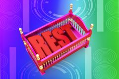 3d cradle rest illustration Stock Photography