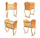 3d cradle on white. Background vector illustration