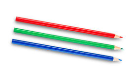 3d crayonnent le blanc de RVB Images stock