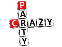 3D Crazy Party Crossword. On white background Royalty Free Stock Photo