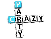 3D Crazy Party Crossword. On white background Stock Images