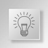 3D Creatief van het Bedrijfs campagnespictogram Concept Royalty-vrije Stock Afbeeldingen