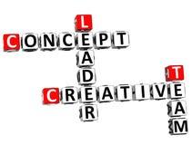 3D Creatieve Conceptenleider Crossword Stock Afbeelding