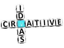 3D Creative Idea Crossword Stock Photography