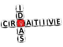 3D Creative Idea Crossword Royalty Free Stock Photos