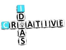 3D Creative Idea Crossword Royalty Free Stock Photo